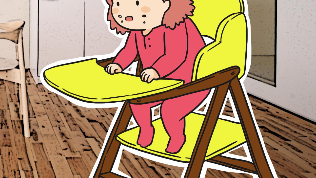 ให้ลูกนั่งเก้าอี้สำหรับเด็ก
