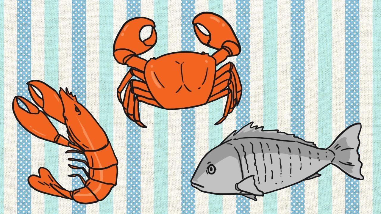 สารอาหารไอโอดีนสามารถพบมากในอาหารทะเลและเกลือเสริมไอโอดีน