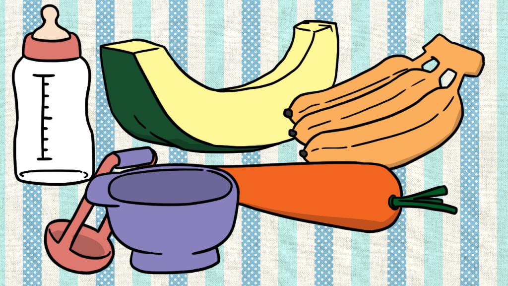 อายุ 6 – 9 เดือนทานอาหารเสริมวันละ 1 มื้อ