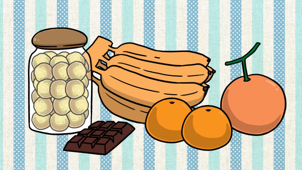 เปลี่ยนขนมที่วางบนโต๊ะกินข้าวเป็นผลไม้