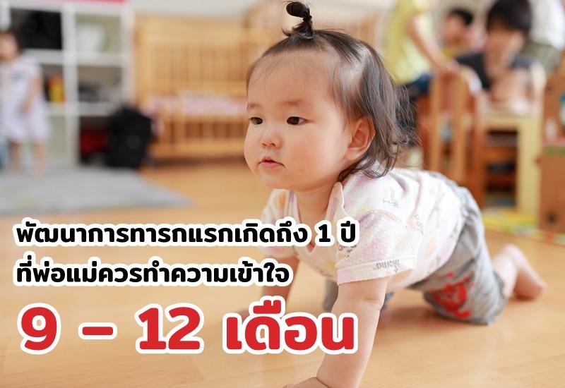 พัฒนาการทารกแรกเกิดถึง 1 ปี ที่พ่อแม่ควรทำความเข้าใจ 9 – 12 เดือน