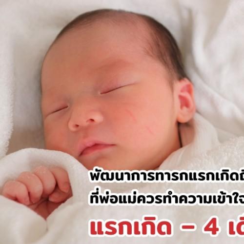 พัฒนาการทารกแรกเกิดถึง 1 ปี ที่พ่อแม่ควรทำความเข้าใจ แรกเกิด – 4 เดือน