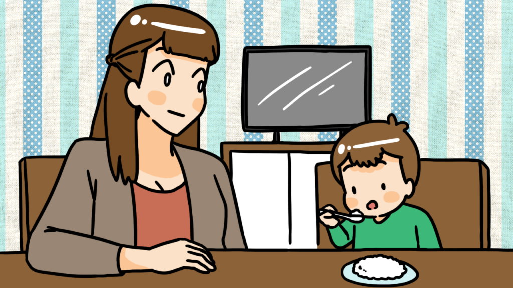 วิธีที่ 2 ฝึกลูกให้มีสมาธิในการกิน