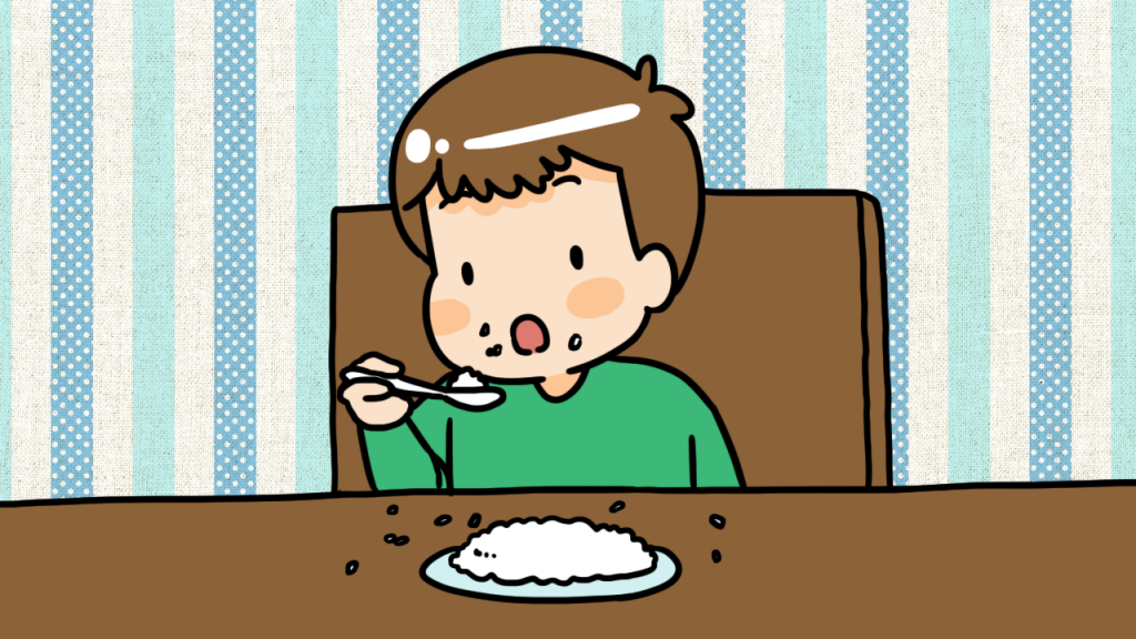 วิธีที่ 3 หยุดป้อน และให้ลูกกินข้าวเอง