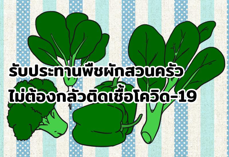 รับประทานพืชผักสวนครัวไม่ต้องกลัวติดเชื้อโควิด-19