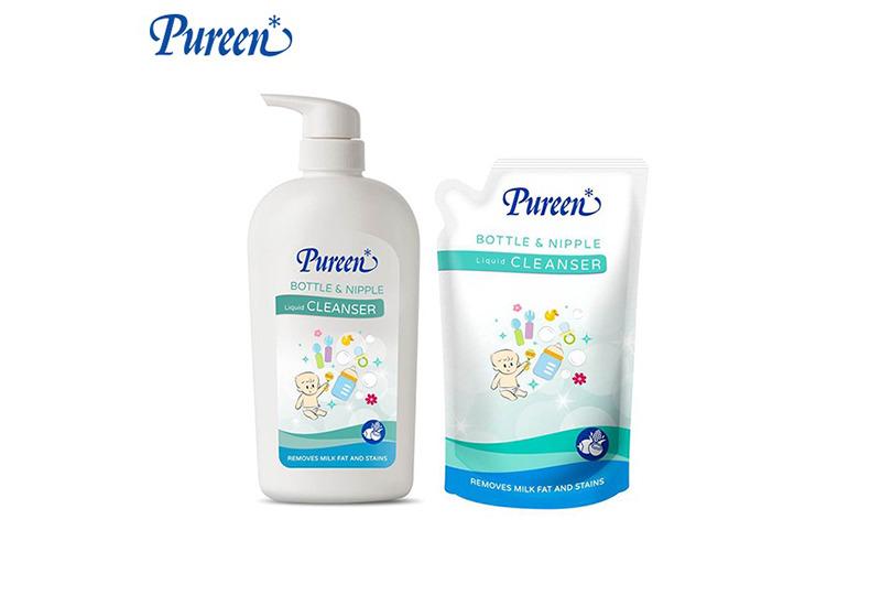 Pureen น้ำยาล้างขวดนม Bottle & Nipple Liquid Cleanser