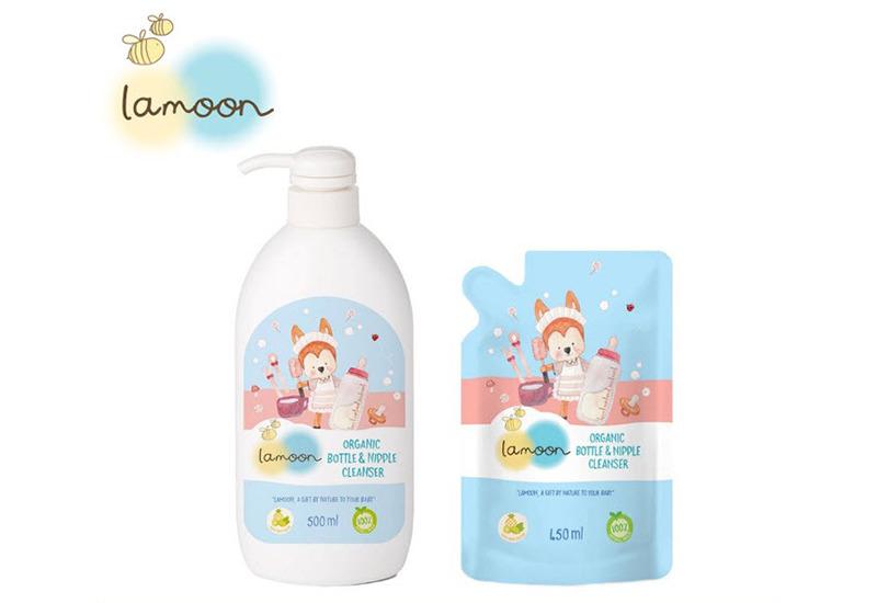 Lamoon น้ำยาล้างขวดนม Organic Bottle & Nipple Cleanser